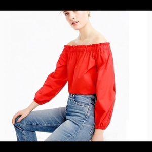Off the shoulder cotton top